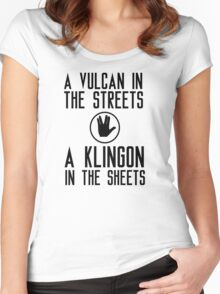 I am a vulcan in the streets and a klingon in the sheets Women's Fitted Scoop T-Shirt