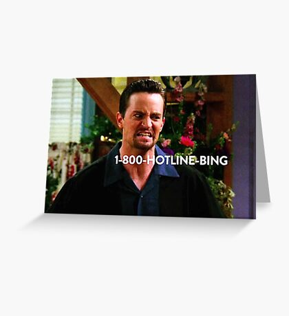 Chandler Bing Friends TV Greeting Card