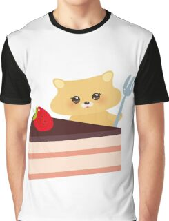 Cute Hamster  Graphic T-Shirt