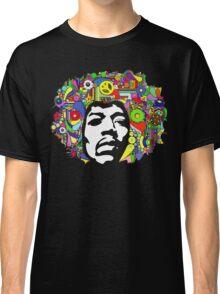 Jimi Hendrix Color Blast Design Classic T-Shirt