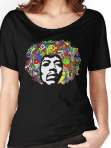 Jimi Hendrix Color Blast Design Women's Relaxed Fit T-Shirt