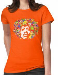 Jimi Hendrix Color Blast Design Womens Fitted T-Shirt
