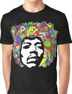 Jimi Hendrix Color Blast Design Graphic T-Shirt