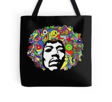 Jimi Hendrix Color Blast Design Tote Bag