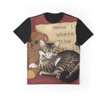 Home is where the Cat is.... Graphic T-Shirt