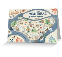 Map of Montreal, Canada Greeting Card