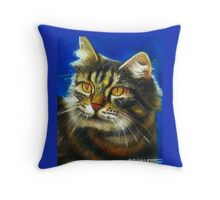 Cathy the cat Throw Pillow