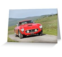 The Three Castles Welsh Trial 2014 - Ferrari 250 GT SWB Greeting Card