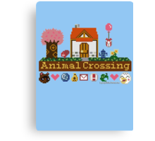 Animal Crossing home sampler Canvas Print