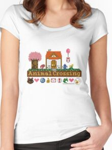 Animal Crossing home sampler Women's Fitted Scoop T-Shirt