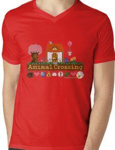 Animal Crossing home sampler Mens V-Neck T-Shirt