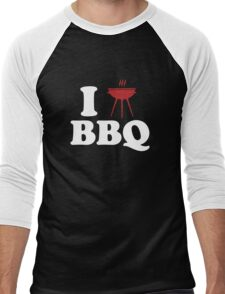 I Love BBQ Men's Baseball ¾ T-Shirt