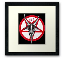 Baphomet White Background Framed Print