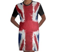 Uk Flag Graphic T-Shirt Dress
