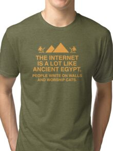 The Internet Is A Lot Like Ancient Egypt Tri-blend T-Shirt