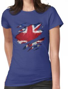 UK Flag Art Womens Fitted T-Shirt