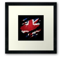 UK Flag Art Framed Print