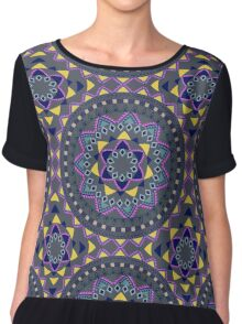 Tribal ethnic vintage pattern Chiffon Top
