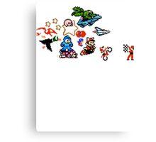 8-bit Race Canvas Print