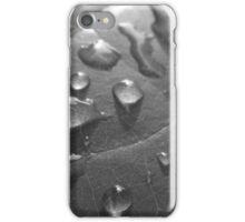 Wet Leaf BW iPhone Case/Skin