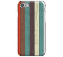 Colorful wood plank background iPhone Case/Skin
