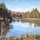 Queenscliff Lagoon reflections by Terri Maddock