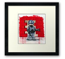 Robocop Lego Style Framed Print