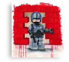 Robocop Lego Style Canvas Print