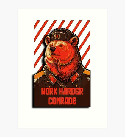 Vote Soviet bear - russian bear meme Art Print