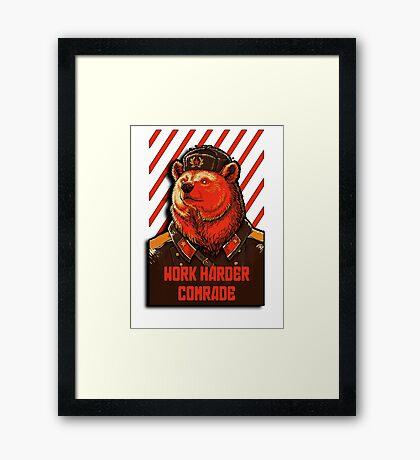 Vote Soviet bear - russian bear meme Framed Print