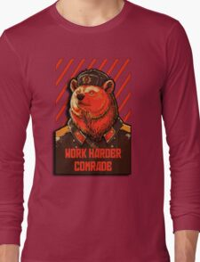 Vote Soviet bear - russian bear meme Long Sleeve T-Shirt