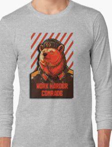 Vote Soviet bear - russian bear meme Long Sleeve T-Shirt