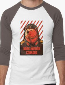 Vote Soviet bear - russian bear meme Men's Baseball ¾ T-Shirt