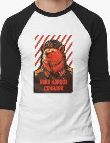 Vote Soviet bear - russian bear meme Men's Baseball ¾ T-Shirt
