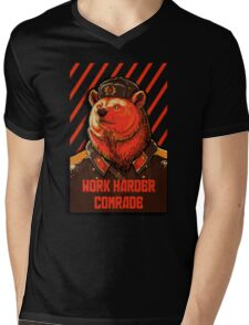 Vote Soviet bear - russian bear meme Mens V-Neck T-Shirt