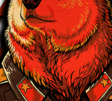Vote Soviet bear - russian bear meme Sticker