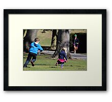 Tag!  You're It! Framed Print