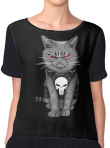 Punishy Cat Chiffon Top