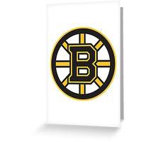 Boston Bruins Greeting Card