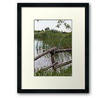 landscape lake Framed Print