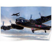 Avro Lancasters  Poster