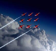 Red Arrows Diamond 9  by J Biggadike