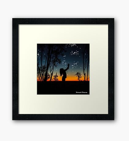 catch a star print Framed Print