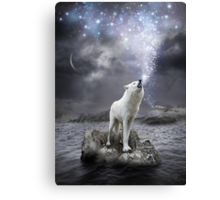 Stars Lie Hidden In Your Soul (Wolf Howl Galaxy) Canvas Print