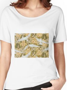 Vintage Art Deco Doves and Flowers Women's Relaxed Fit T-Shirt