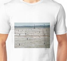 Gormley Statues on the beach (Digital Art) Unisex T-Shirt