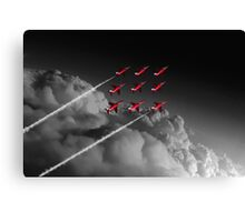 Red Arrows Diamond 9 - Pop Canvas Print