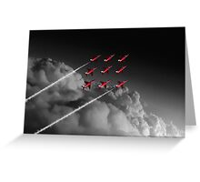 Red Arrows Diamond 9 - Pop Greeting Card