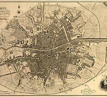 Vintage Map of Dublin Ireland (1797)  by BravuraMedia