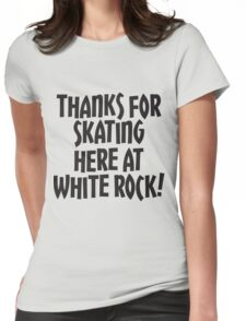 WRSC Skating at White Rock Womens Fitted T-Shirt